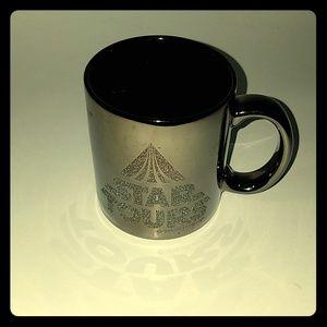 Vintage Disney Star Tours Chrome Coffee Cup Mug